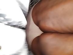 Upskirt free porn clips - phat ebony pussy